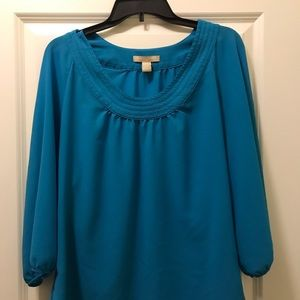 Blue Banana Republic Wide necked blouse